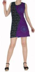 Robe d'été courte mode ethnique  Violette/Noire/Bleue  Banita 1 272899