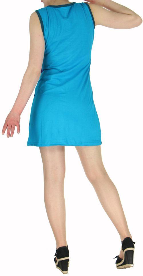 Robe d'été courte mode ethnique  Violette/Noire/Bleue  Banita 1 272900
