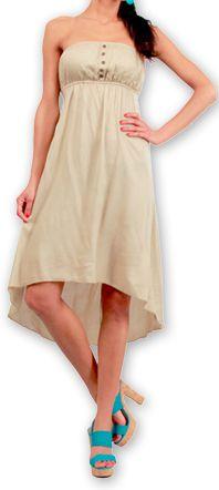 Robe d'été Elegante à bustier Originale et Chic Donna Beige 277011