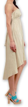 Robe d'été Elegante à bustier Originale et Chic Donna Beige 277012