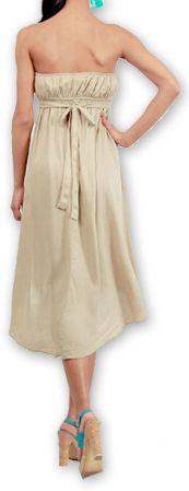 Robe d'été Elegante à bustier Originale et Chic Donna Beige 277013