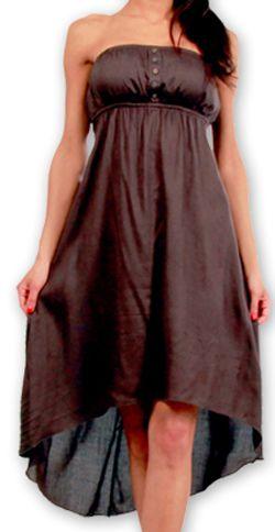 Robe d'été Elegante à bustier Originale et Chic Donna Grise 277022