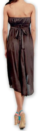 Robe d'été Elegante à bustier Originale et Chic Donna Grise 277025