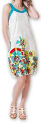 Robe d'été Ethnique et Originale forme boule Lorellia Blanche 277133