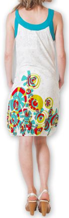 Robe d'été Ethnique et Originale forme boule Lorellia Blanche 277135