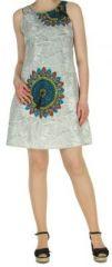 Robe d'été ethnique idéale cérémonie  Blanche  Alisha 272572