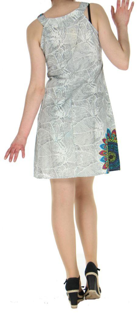 Robe d'été ethnique idéale cérémonie  Blanche  Alisha 272573
