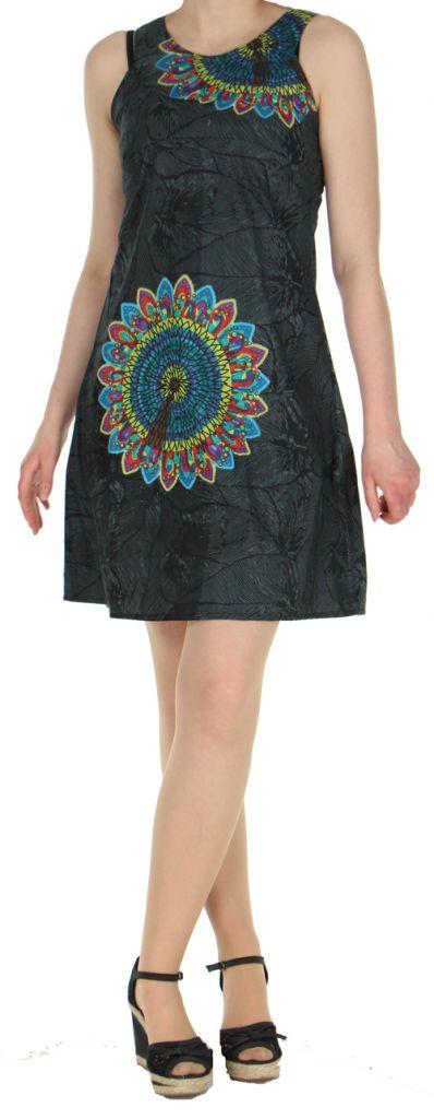 Robe d'été ethnique idéale cérémonie  Noire  Alisha 272574