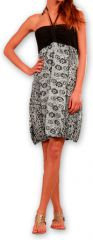 Robe d'été forme boule Ethnique et Originale Glorria Noire 277060