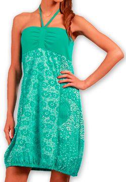 Robe d'été forme boule Ethnique et Originale Glorria Turquoise 277063