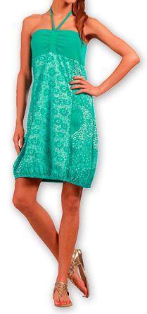 Robe d'été forme boule Ethnique et Originale Glorria Turquoise 277064