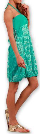 Robe d'été forme boule Ethnique et Originale Glorria Turquoise 277065