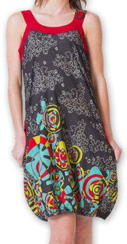 Robe d'été forme boule Ethnique et Originale Lorellia Noire 277128