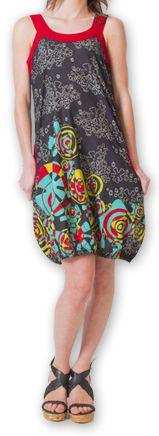 Robe d'été forme boule Ethnique et Originale Lorellia Noire 277129