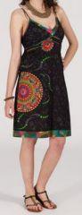 Robe d'�t� imprim�e ethnique mi-longue Julianna 271354