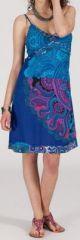 Robe d'été imprimée ethnique mi-longue Magdalenie 271352