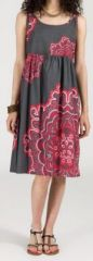Robe d'été imprimée ethnique mi-longue Nathacha 271350