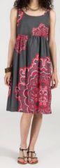Robe d'�t� imprim�e ethnique mi-longue Nathacha 271350