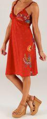 Robe d'été mi-longue à bretelles Originale et Colorée Aliska 279259