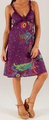 Robe d'été mi-longue à bretelles Originale et Colorée Ashia 279322
