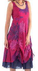 Robe d'été mi-longue Chic et Originale Brigida Fuchsia 281647