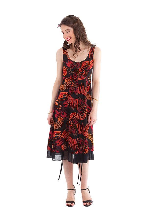 robe d ete mi longue chic noire et originale brigida. Black Bedroom Furniture Sets. Home Design Ideas