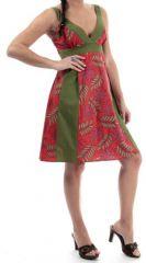 Robe d'été mi-longue col en V Ethnique et Imprimée Lisbonne 280330