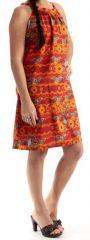 Robe d'été mi-longue Originale et Colorée Raphy rouge 279561