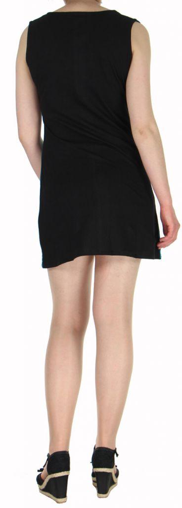 Robe d'été mode ethnique col V et sans manches Bleue n1 Tulipa 272948
