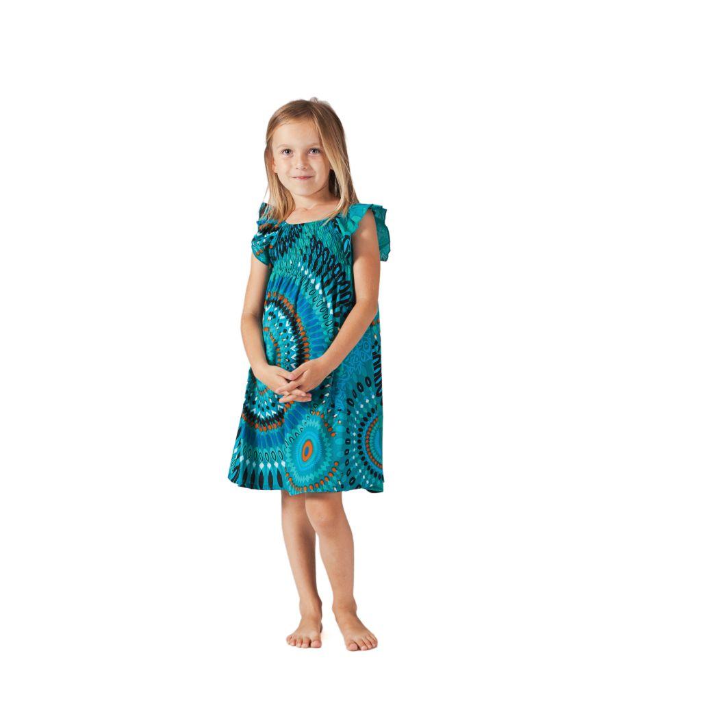 Robe d'été pour Enfant Colorée et Ethnique Nash Turquoise 279862