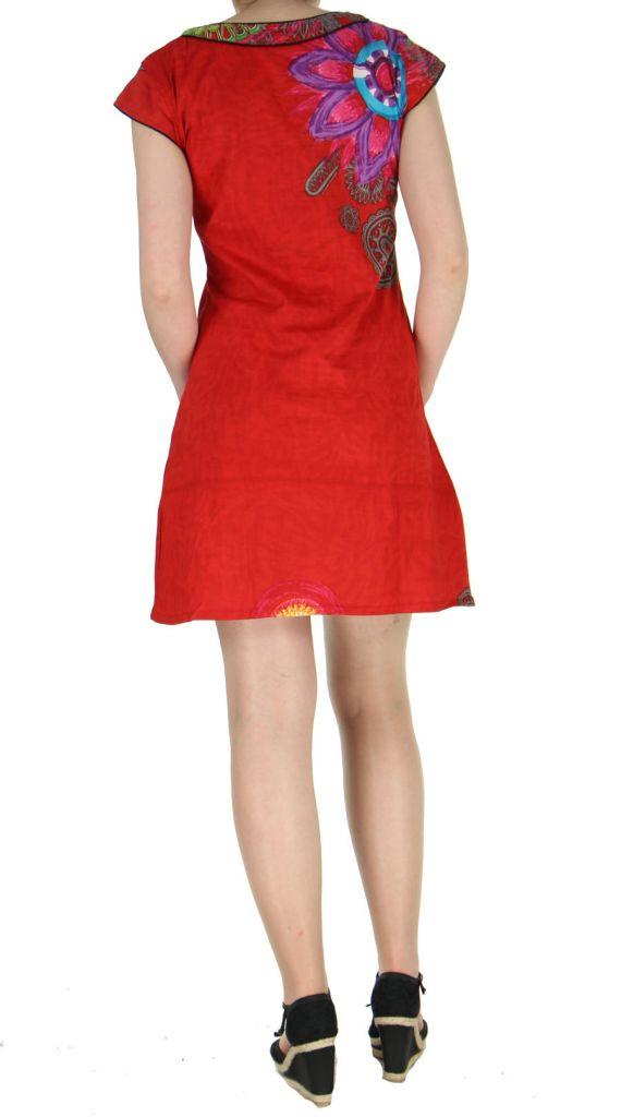 Robe d\'été rouge Nathy