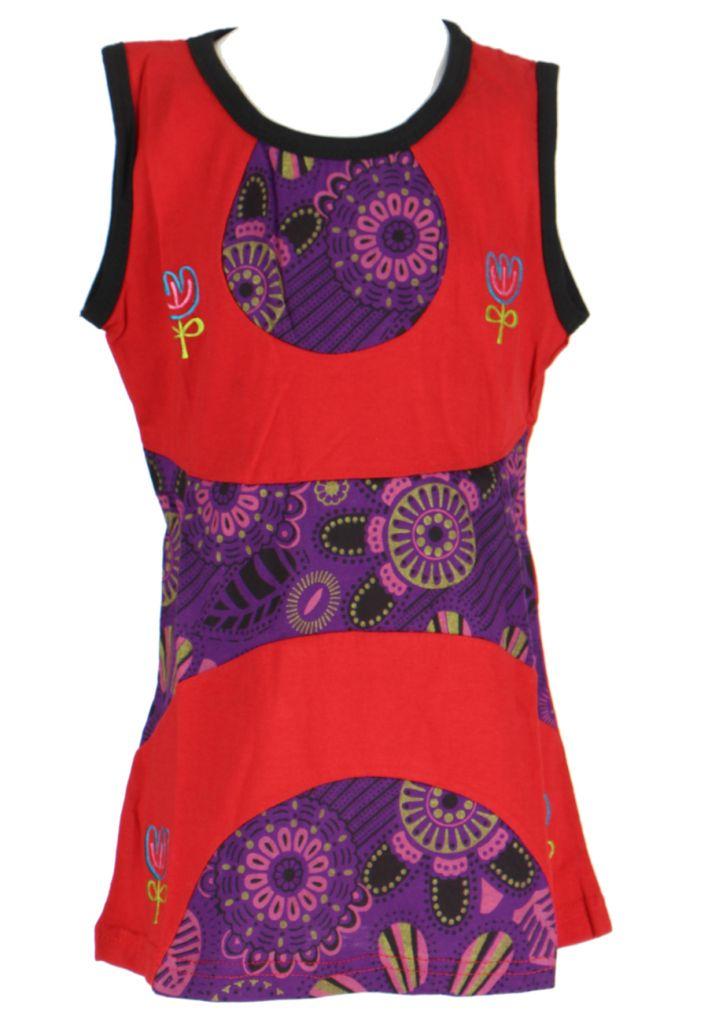 Robe d'été rouge pour petite fille Claudia 268626