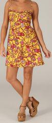 Robe d'été très Féminine et Originale Salomé Jaune 279420