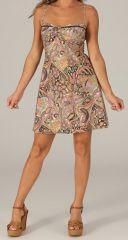 Robe d'été très Féminine et Originale Salomé Pastel 279425