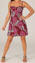 Robe d'été très Féminine et Originale Salomé Rouge 279422