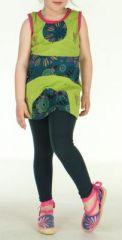 Robe d'été verte pour petite fille Claudia 270801