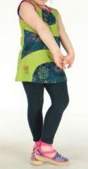 Robe d'été verte pour petite fille Claudia 270802