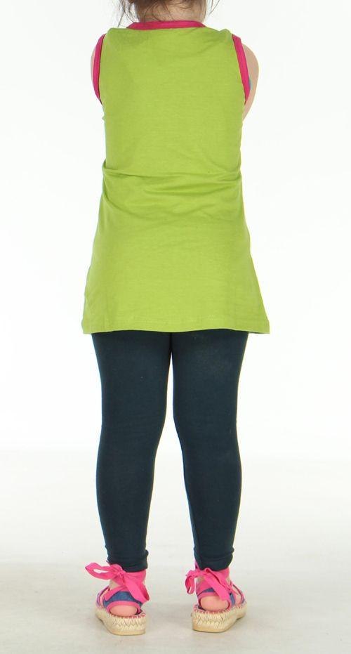 Robe d'été verte pour petite fille Claudia 270803