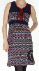 Robe d'hiver à larges bretelles Originale et Colorée Christel 278743