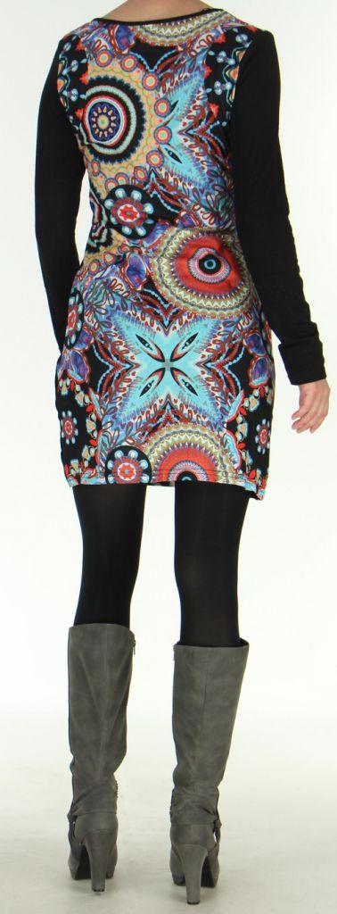 Robe d'hiver à manches longues Originale et Colorée Satine 276074