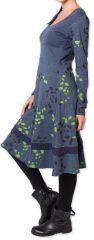 Robe d'hiver à manches longues Originale et Fleurie Tanah Grise 276225