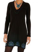 Robe d'hiver courte pour femme stylée et ethnique Jimeta 313437