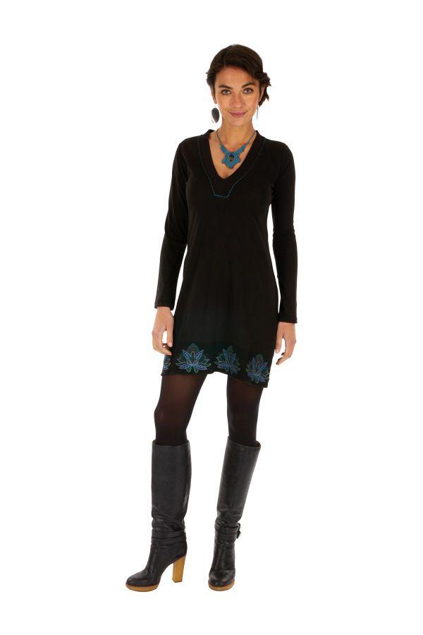 Robe d'hiver courte pour femme stylée et ethnique Jimeta 313438
