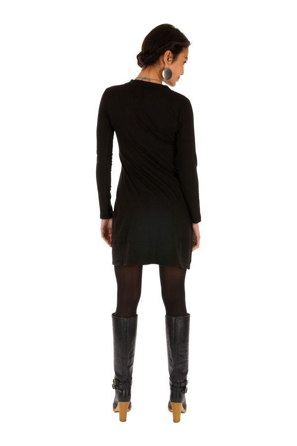 Robe d'hiver courte pour femme stylée et ethnique Jimeta 313439