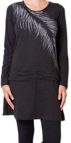 Robe d'hiver en coton Ethnique et Chic Elysta Noire 275686