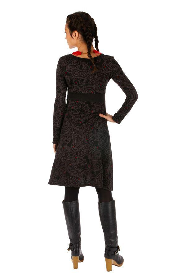 Robe d'hiver ethnique et imprimée au col en V Parakou 312726