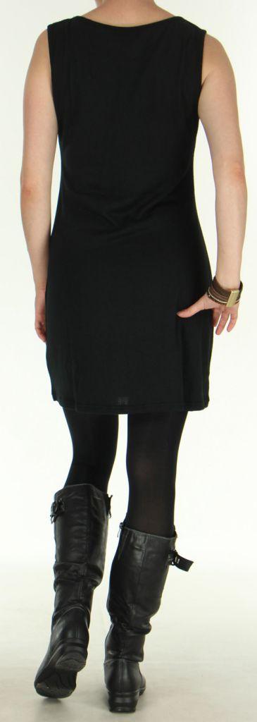 Robe d'Hiver sans manches Ethnique et Colorée Sawsen Noire 276068