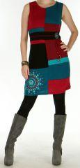 Robe d'Hiver sans manches Très Originale et Colorée Sevane Fushia 276091