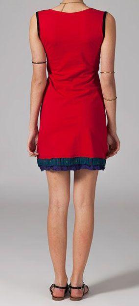Robe de détente rouge Ophélie