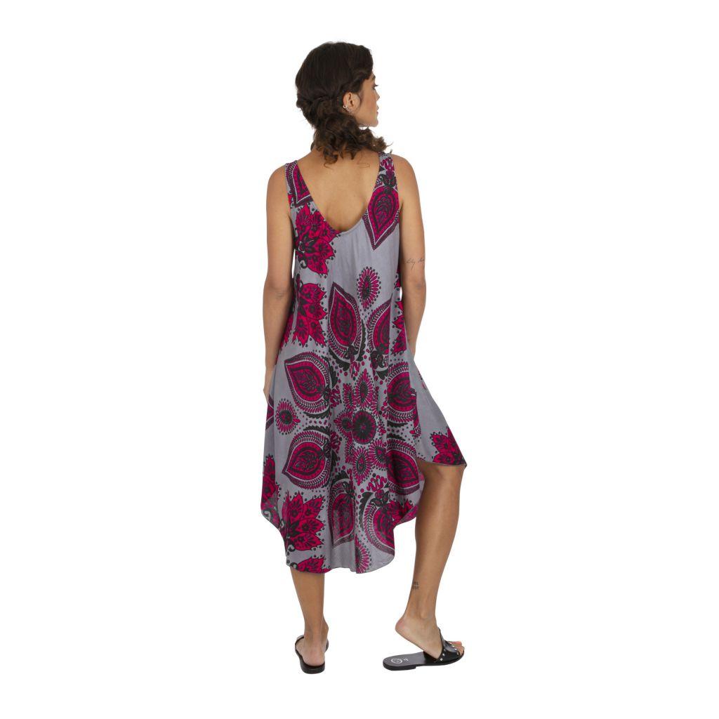 Robe de plage avec un imprimé effet mandala tendance Katsy 317002